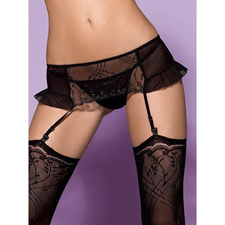 Garter Belt With Thong - Garter Belt With Thong