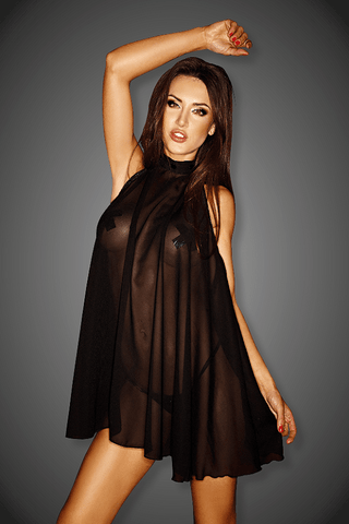 Black Sexy Tulle Mini Dress