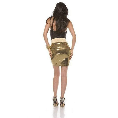 Gold metallic skirt for <span class=money>€14.95 EUR</span> at Flirtywomen