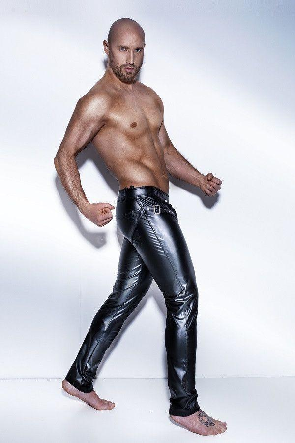 Men`s long pants with harness - Flirtywomen
