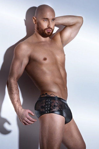 Men`s wet-look and lace briefs for <span class=money>€55.95 EUR</span> at Flirtywomen