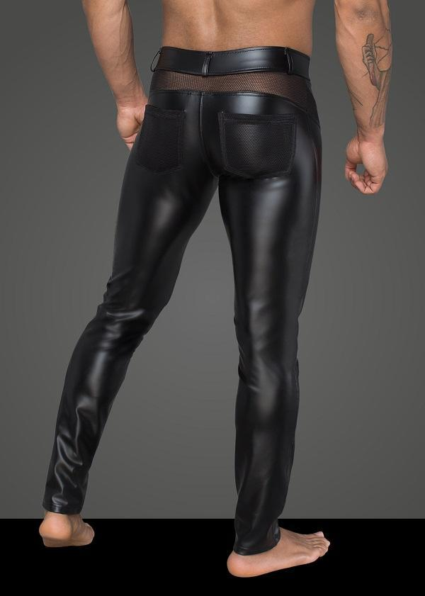 Men`s Wet-Look Long Pants H059