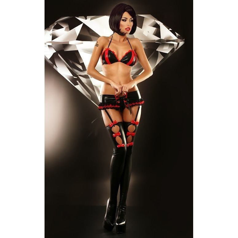 Hot four piece lingerie set - Flirtywomen