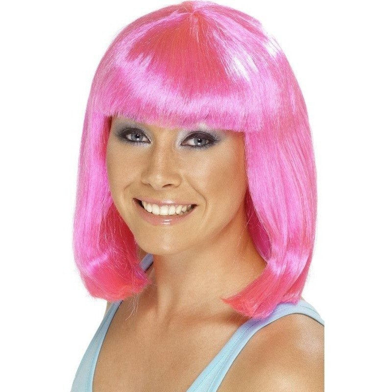 Hot Pink cheerleader costume wig - Flirtywomen