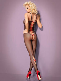 Bodystocking with red bows