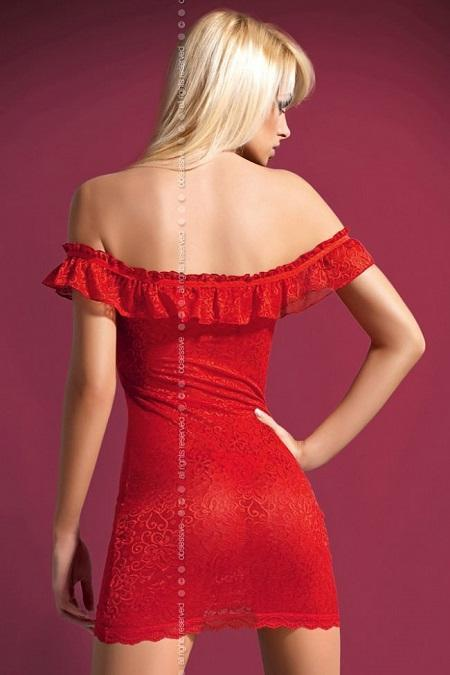 Red chemise nightdress