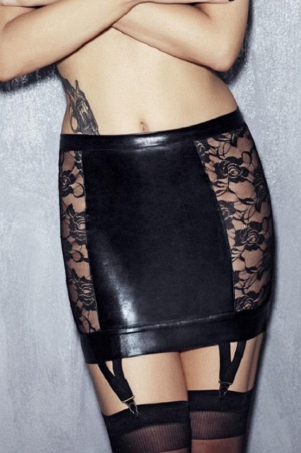 Black garter skirt Lorena