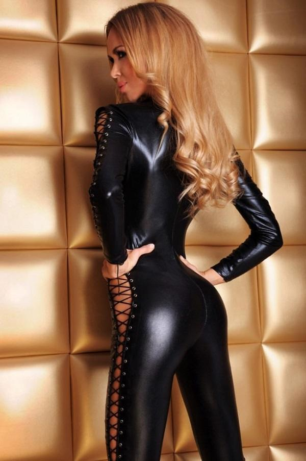 Super sexy wet look catsuit