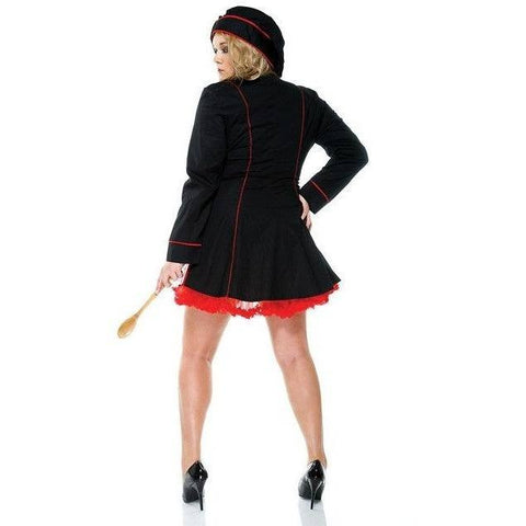 Plus size Chef ladies costume - Flirtywomen