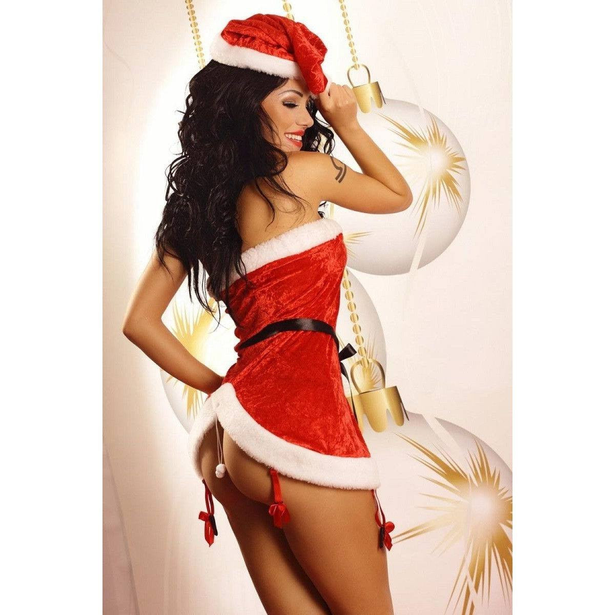 Ladies Santa Dress - Sexy Santa Dress With A Santa Cap