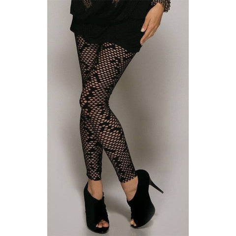 Leggings - Netted Ankle Length Leggings
