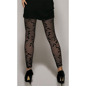 Netted ankle length leggings - Flirtywomen