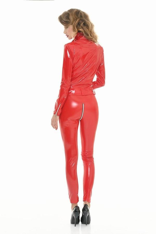 Red Vinyl Leggings Sam
