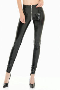 Black Vinyl Leggings Sam