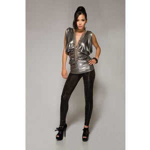 Sleek Black Cheetah print Leggings - Flirtywomen