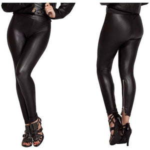 Stretch metallic leggings - Flirtywomen