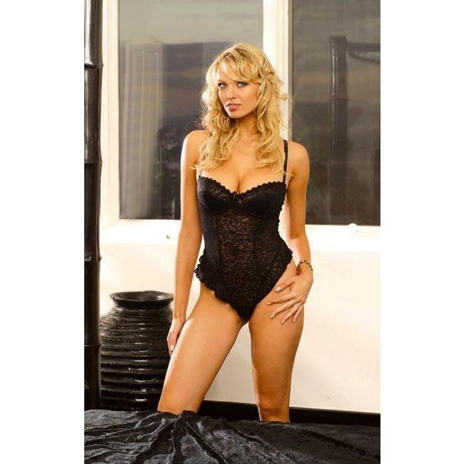 Lingerie Body - Sexy Stretch Lace Underwire Teddy