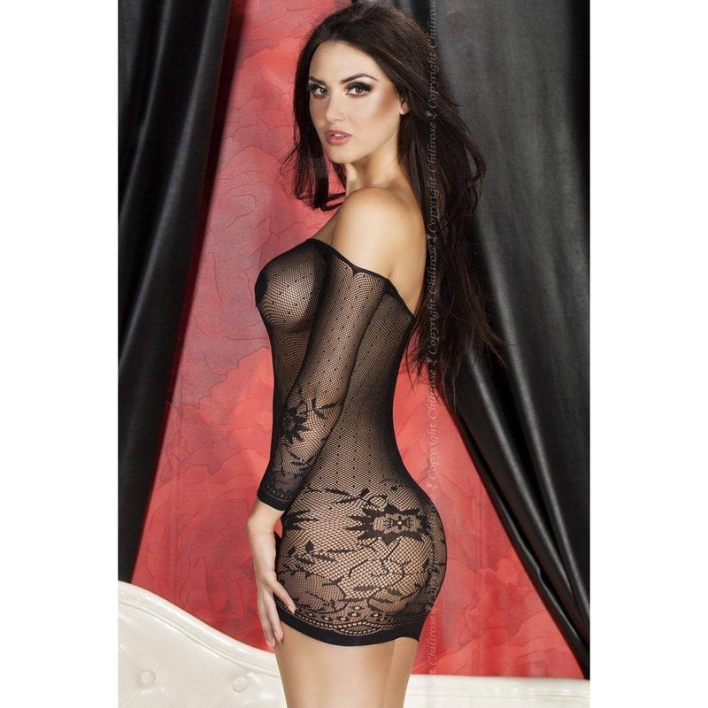 Black lingerie seamless dress - Flirtywomen