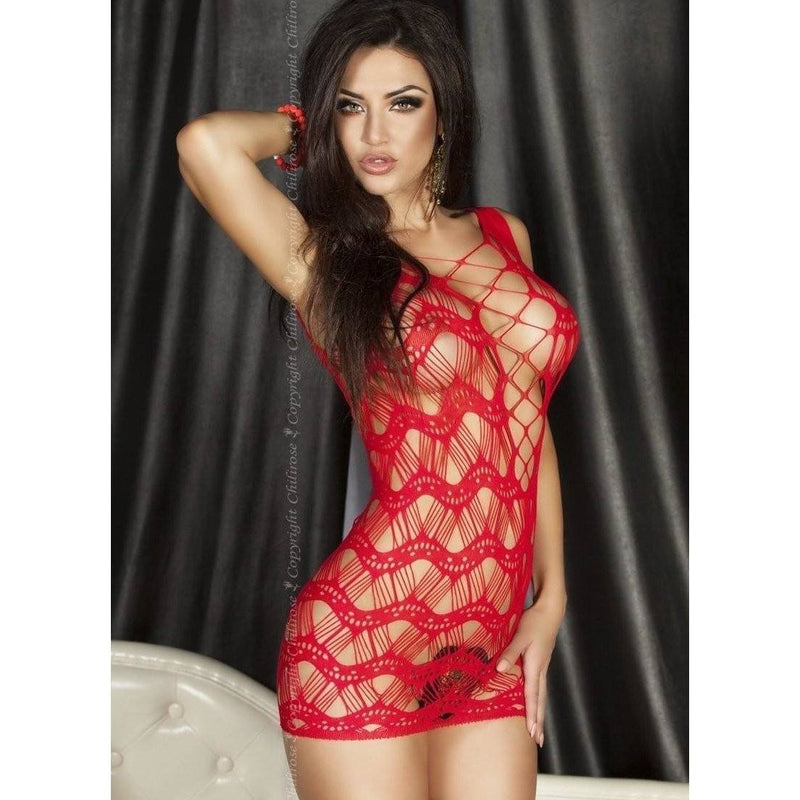 Red spider web lingerie dress - Flirtywomen