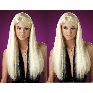 Long Blonde straight wig - Flirtywomen