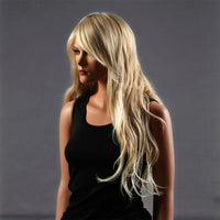 Long blonde wavy ladies wig - Flirtywomen