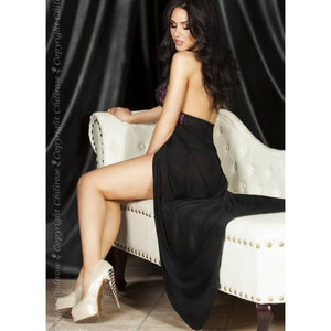 Long sheer open nightdress - Flirtywomen