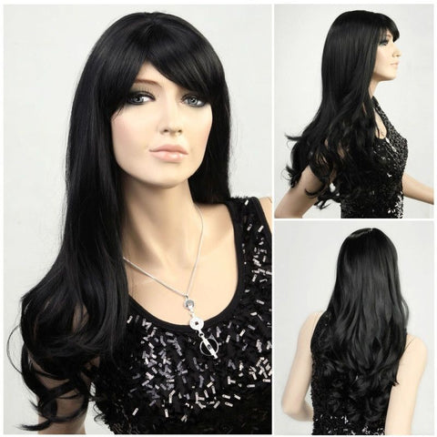 Long wavy black wig for <span class=money>€29.95 EUR</span> at Flirtywomen