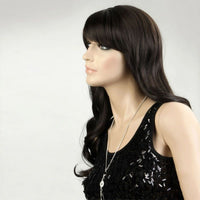 Long wavy dark brown wig - Flirtywomen