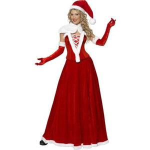 Luxury Long Christmas Santa Dress - Luxury Long Christmas Santa Dress