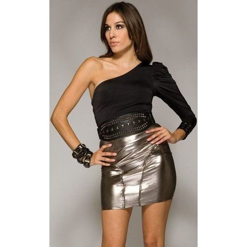 Mini skirt gunmetal grey for <span class=money>€14.95 EUR</span> at Flirtywomen