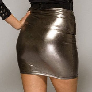 Mini Skirt Gunmetal Grey - Mini Skirt Gunmetal Grey