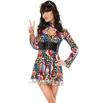 Mod Girl Retro fancy dress costume - Flirtywomen