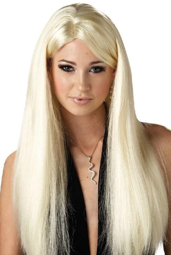 Long Blonde straight wig