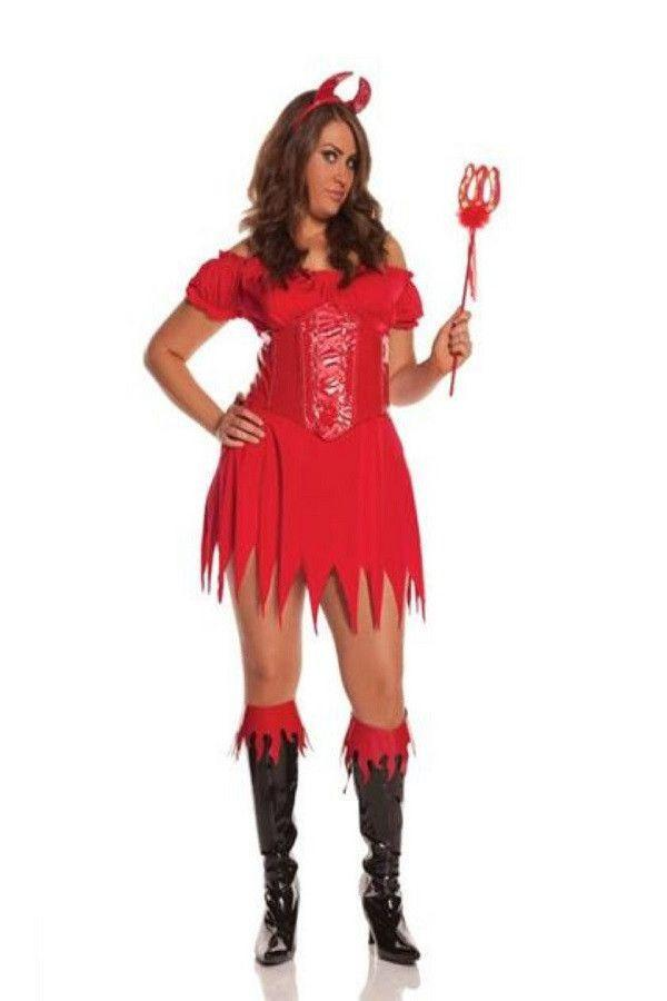 Plus size devil inspired costume