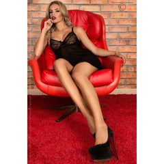 Black Babydoll nightdress and G-string for <span class=money>€19.95 EUR</span> at Flirtywomen