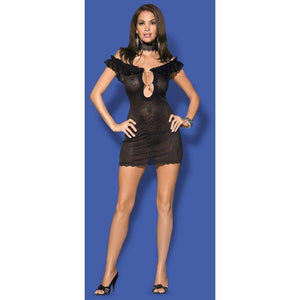 Black chemise nightdress - Flirtywomen