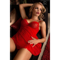Red Babydoll nightdress and G-string - Flirtywomen