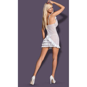 White chemise sheer nightdress - Flirtywomen