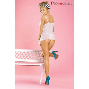 White frilly nightdress - Flirtywomen