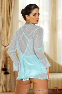 Nightdress with robe and G-string