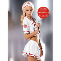 Nurse costume top and skirt set - Flirtywomen