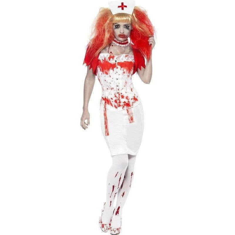 Zombie nurse fancy dress costume - Flirtywomen