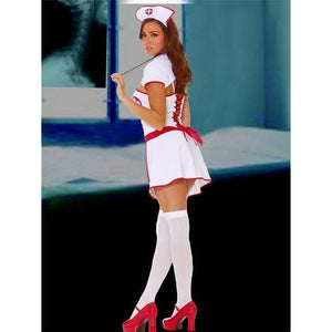 Fancy dress four piece nurse costume - Flirtywomen