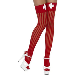 Nurse inspired costume socks for <span class=money>€6.95 EUR</span> at Flirtywomen
