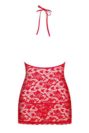 Red lace nightdress