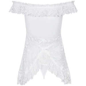 Off The Shoulder White Nightdress - Off The Shoulder White Nightdress