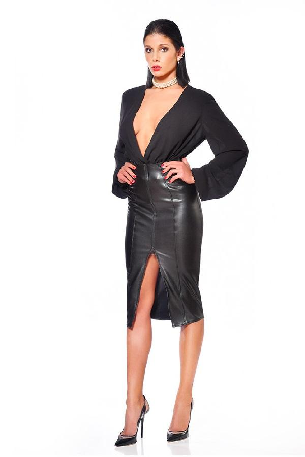 Black Pencil Skirt Ornella