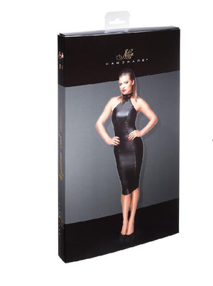 Wet-Look Pencil Dress F160