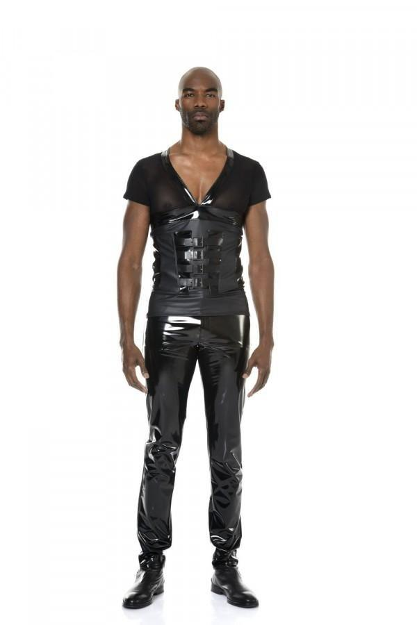 Men`s Vinyl Leather Jeans Shawn