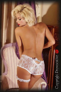 White lace brief panty`s